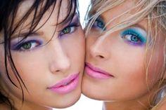 green eyes, blue eyes