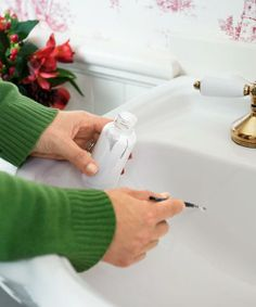 You don't have to junk that chipped porcelain sink.  You can repair it with a kit for about $30 from refinishingonline.com | Photo: John Gruen | thisoldhouse.com