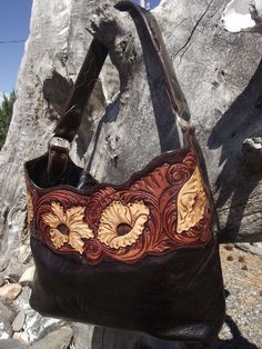 tooled leather purse