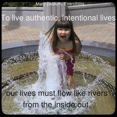 Intentional lives. Created by Heidi Kreider.