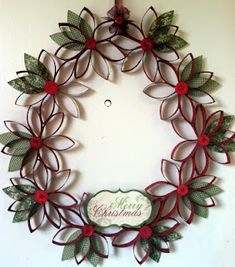 Christmas Wreath from toilet paper rolls