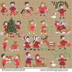 click here to view larger image of Happy Childhood Collection - Christmas Time (chart)