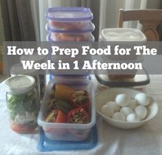 How to Prep Food for The Week in 1 Afternoon. In this post I share what my sunday prep looks like. I give links to tons of recipes and food prep resources. Tons and tons of information! Food prep is key to weight loss so if you are struggling with changing your eating habits I highly recommend you try prepping your food ahead of time.