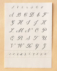 How To ~ Calligraphy