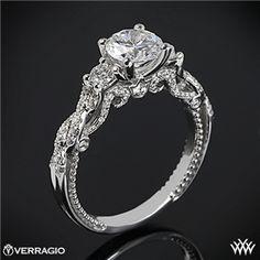Verragio Braided 3 Stone Engagement Ring