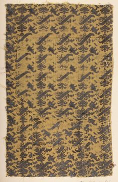 Fragment Date: 16th century Culture: Italian Medium: Silk Accession Number: 2002.494.13a, b