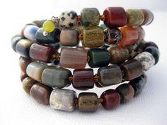 Multicolored Coil Bracelet #handmade #bracelet #jewelry