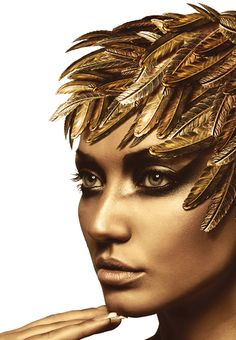 gold goddess makeup - Google Search