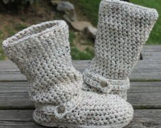 Free Crochet Adult Boot Patterns | Crochet Boots Pattern-----OATMEAL-- ---Slouchy Mid Calf Boots for the ...