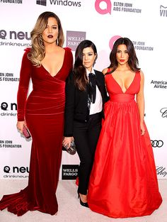 Kim, Kourtney, Khloe Kardashian dazzle at Elton John's Oscars party