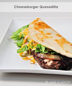 Cheeseburger Quesadillas Recipe  from @addapinch | Robyn Stone