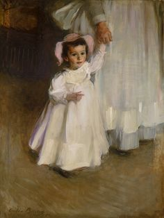 Cecilia Beaux (American, 1855–1942). Ernesta (Child with Nurse), 1894. The Metropolitan Museum of Art, New York. Maria DeWitt Jesup Fund, 1965 (65.49) #hands #Connections