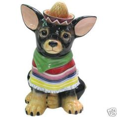 CHIHUAHUA DOG RAUL COOKIE JAR