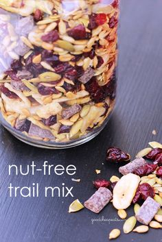 Nut Free Trail Mix. We're calling it Monkey Munch. :)