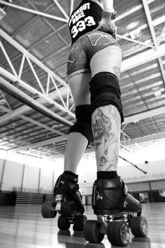 Leader of the pack. #RollerDerbying #Competing #SummerofDoing tattoo tattoo, rollerderby, rollerderbi, leg tattoos, roller derbi, rock, angl, roller derby, tattoo ink