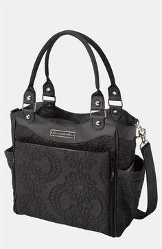 Black Floral Petunia Pickle Bottom Diaper Bag