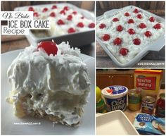 No Bake Ice Box Cake