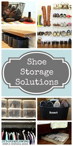 Great Shoe Storage Solutions!