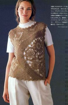 Crochet summer blouse ♥LCT♥ with diagrams. Excellent diagram, one to really save for future projects.
