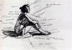 dedward hopper, edward hopper sketch, art, sketchbook, studi draw, 1952, morn sun, mornings, hopper edward