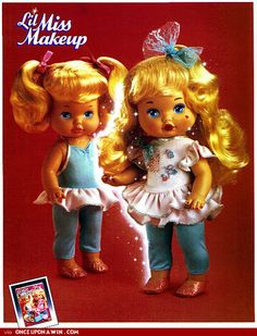 Lil Miss Makeup 1980's 1990's toys dolls 80s, paper dolls, rememb, makeup, christmas morning, baby dolls, childhood, kid, christmas gifts
