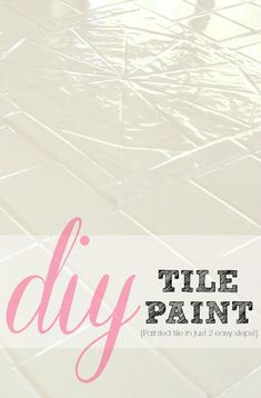How to paint tile in just 2 easy steps!