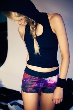 Black Milk Galaxy Shorts