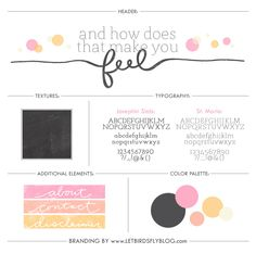 Blog design for And How Does That Make You Feel by Let Birds Fly