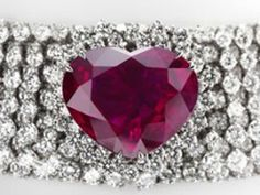 most expensive jewelry: Heart Shaped Burma Ruby Necklace Amazing 14 million dollars