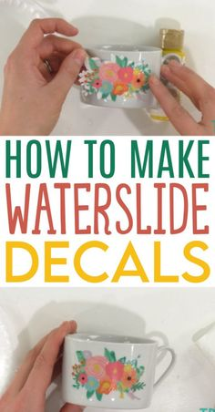In this post, we're going to tackle the basics on How To Make Waterslide Decals. This is a great craft technique to use on glasses, mugs, tumblers, and more. Make a fantastic craft project for yourself or to give as a gift. #cricut #cricutmade #cricutmaker #cricutexplore #diecutting
