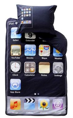 geek, pillow, cute bedsheets, android, ipod touch, bunk beds, apples, bed sheets, thing