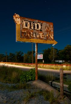 D Drive In Sign
