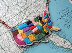 Embroidered USA