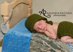 Custom Order Vintage Inspired Army set photo prop $35 Newborn and Baby Photography props #Snipits #Snipitsink #AmandaRachaelPhotography