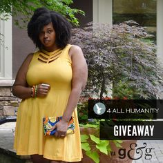 Outfit + Giveaway: Win this organic, Fair Trade fit and flare chevron cutout dress from 4 All Humanity! It's available in three colors.