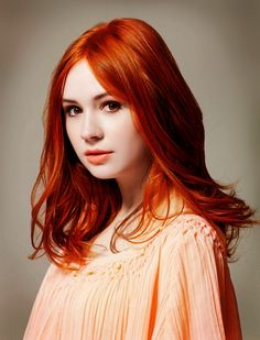 Red hair.  Amelia Pond!!!!  <3 Her character!