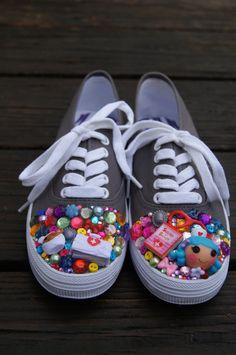 MTO Kawaii Lalaloopsy Shoes. $38.00, via Etsy.