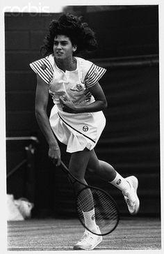 Gabriela Sabatini at Wimbledon ~ 1985