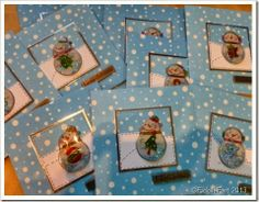 snowman Christmas cards