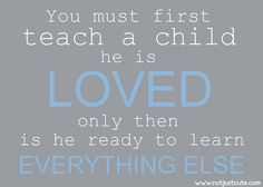 Love first.