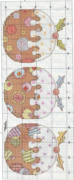 Christmas napkins and apron, Cross-Stitcher magazine