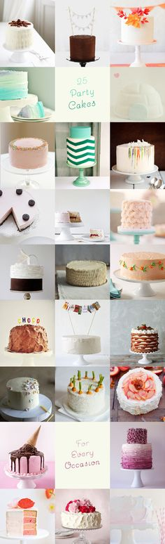25 party cakes