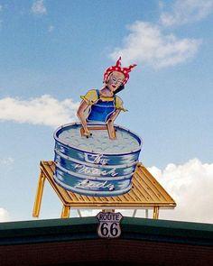 The Wash Lady on Route 66 ~ Tucumcari, New Mexico