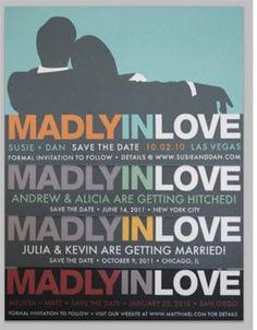 mad men wedding invites