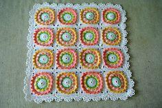 not a free pattern Tulip Field Blanket Tutorial | Beautiful Crochet Stuff