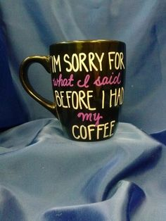 Hand painted coffee mugs by MyArtsieCreations on Etsy, $10.00
