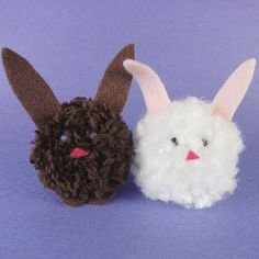 Pom Pom Easter Bunnies are a festive way to make one of the holiday's mascots.
