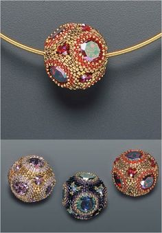 laura mccabe. ornaments made of beads