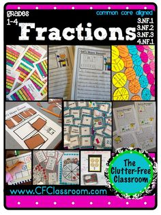 clutterfre classroom, idea, school, fractions, common core math