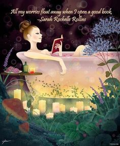i have the tub, now i just need the rest of the bathroom to look like that - nothing beats a soak and a read